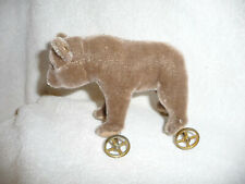 STEIFF BEAR ON WHEELS 1905 REPLICA MADE IN 1984 EXCELLENT!!! NR