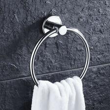 Round Brushed Nickel Steel Towel Ring Holder Mounted Hanger Bathroom Shelf 11lbs