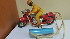 VINTAGE MOTORCYCLE BIKER TIN METAL BATTERY OPERATED KIEV REMOTE USSR CCCP RARE
