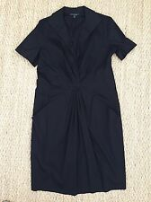 Lafayette 148 Black Cotton Dress Size 14