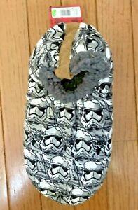 Disney Star Wars Storm Trooper Fuzzy Babba Slippers - Size M/L - 7.5-9.5 - New