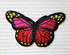 Pretty Butterfly Iron on / Crafts Sew on patch / Applique / Badge