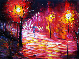 Canvas Wall Art Modern Decor Oil Painting Hand Painted,100 X 76 cm,Ready to Hang