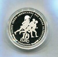 PORTUGAL 10 EUROS   PLATA 2007  VII  SERIE IBEROAMERICANA  PROOF NUEVA