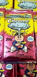 20 GPK NEW Garbage Pail Kids Chrome Series 1 Factory Sealed Hobby Packs