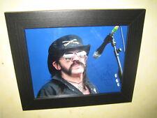 Lemmy - Ian Kilmister {Motorhead} Excellent Framed Signed Photograph (8x10)