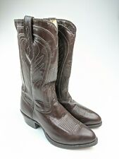 Vintage NEW Imperial Cowboy Western Boots Brown Goatskin Sz 9 EE