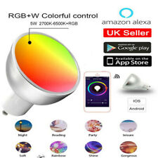 1-4PACKs GU10 Smart Bulb App Remote Control RGB 5W WiFi Light For Alexa Google※~