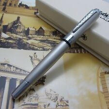 Jin Hao Business Office Writing Gift Pen Silver Fountain pen Free Shipping