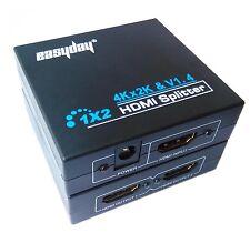 HDMI 1.4 1 in 2 out 1080p HDCP Stripper 1x2 Splitter Power Signal Amplifier HDTV