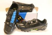 New Giant Charge Carbon Mountain Bike Shoes 42 9 Black Blue Men's 2-Bolt SPD MTB