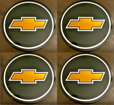 4pcs CHEVY Emblem Badge RALLY WHEEL CENTER HUB CAPS' LOGO STICKERS