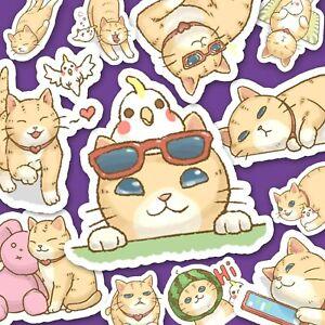 Adorable Orange Cat Stickers - Kawaii Stickers -  Journal Stickers [USA]