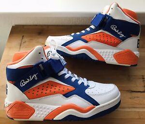 PATRICK EWING 33 HI SNEAKER Basketball FOCUS High Schuhe Orange Blau GR 41 1/2
