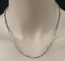 Pyrit Kette /- Collier in silber, facet., edel, 46,40ct., 925 silber Karab.