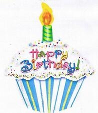 BIRTHDAY CAKE balloon Happy Birthday helium foil cupcake shaped party balloon