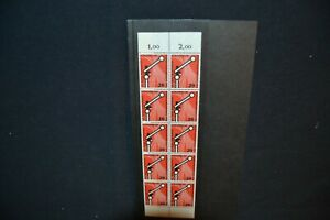 Germany 1955 Railway Timetable conference unmounted mint block of 10 (cat £130+)