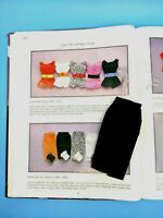 1962-1963 Vintage Original BARBIE COTTON MIX AND MATCH GROUP Black Sheath SkirtA