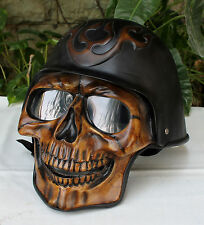 Motorcycle Helmet Skull Skeleton GHOST RIDER Full Face  S - XXL
