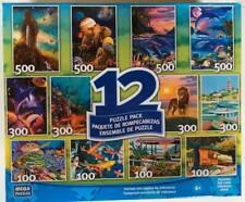 2012 Mega Puzzle 12 Puzzle Pack Fish Boats Wildlife