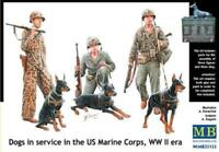 Patroling Cani in Servizio The 1:3 5 US Marine Corps, Ww II Masterbox MAS35155