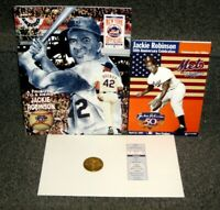 APRIL 15 1997 JACKIE ROBINSON 50TH ANNIV COIN PROGRAM TICKET & SGA BOOKLET MINT
