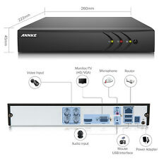 ANNKE 5IN1 H.264+ 4CH DVR Recorder Surveillance Security TVI System Remote IP66