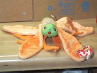 f764b37a76e TY Glow Dragonfly Lightning Bug Firefly Insect Beanie Baby babies 1-4-2000 6