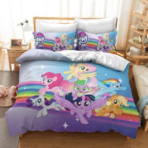 Cartoon My Little Pony 3D Bedding Duvet/Quilt/Doona Cover Sets Pillowcases H
