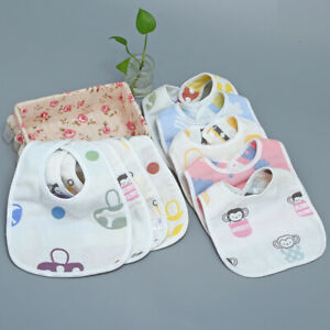 1pcs Baby Boy Girl Bandana Dribble Bibs Towel Pink Blue Boys Girls Cotton Gifts