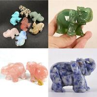 Jasper Turquoise Elephant Hand Carved Malachite Natural Gemstone Quartz Crystal