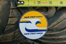 Wavecrest Hawaii Wave Crest Surfboards Rare 1970's V19a Vintage Surfing STICKER