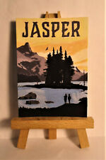 Jasper National Park Poster ACEO Original PAINTING by Ray Dicken