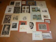 24x Grafik Konvolut Händler Portrait Zoologie Gebäude Holzstiche Lithographie