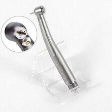 Dental LED Fiber Optic High Speed Handpiece Push Button Egenerator 2 Holes