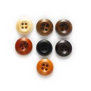 4 Hole Round Wooden Buttons Sewing Scrapbook Clothing Crafts handwork 10-25mm