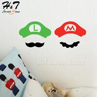 Cartoon Super Mario Bros Luige Vinyl Wall Sticker Decal Kids Playroom Nursery