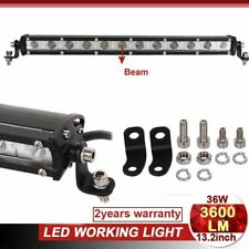 36W Led Light Bar 13inch Work Lamp Offroad Driving 4WD SUV Truck Light Slim New