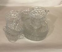8 Fostoria Crystal American Cups and Saucers