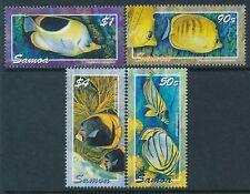 2004 SAMOA BUTTERFLY FISH SET OF 4 FINE MINT MNH