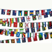 Commonwealth Games Bunting Flags All 70 Nations Country - 65 FEET 19 METERS LONG