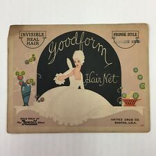 Vintage NOS Store Stock Rexall Goodform Hair Net Real Hair Auburn X-95 Fringe
