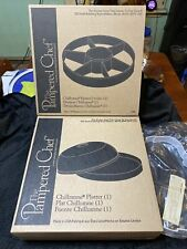 Pampered Chef Chillzanne Round chilling Platter Cover & Dividers and Handle!