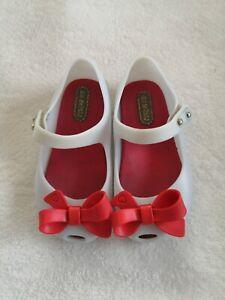 Size US7 mini Melissa Bow Shoes