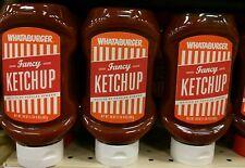 Lot of 3 new Whataburger 20oz fancy ketchup H-E-B TX exp. 2018