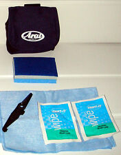 Shift It Helmet and Visor Cleaning kit in an Arai Blue Pouch