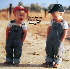 BEEN FARMING LONG  TWO YOUNG FARMERS OVERALLS HUMOROUS FRIDGE  MAGNET