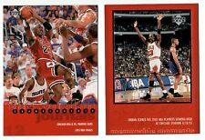 Michael Jordan 1998 RETRO MEMORABLE MOMENTS CHAMPIONSHIP Basketball 2 Card Lot