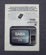 G471 - Advertising Pubblicità - 1978 - SABA TELEVISORE PORTATILE ULTRACOLOR CM