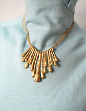 Elle Bijous Kohl's Necklace Fashion Jewelery Gold Crystal Bling Weighty BNWT